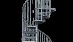 Exterior Galvanized Spiral Staircase Rondo Plus