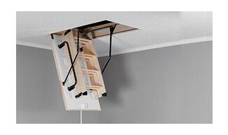 Ξύλινη Σκάλα Οροφής - Πτυσσόμενη OMAN