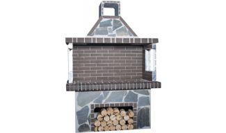 Ψησταριές - BBQ Κήπου - Πέτρα Καρύστου & Γκρι Πυρότουβλο - 0112