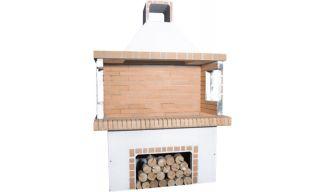 Ψησταριές - BBQ Κήπου - Λευκή & Κίτρινο Πυρότουβλο - 0101