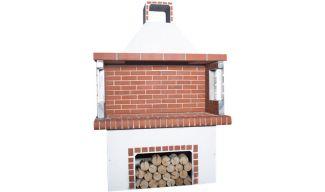 Ψησταριές - BBQ Κήπου - Λευκή & Κόκκινο Πυρότουβλο - 0100