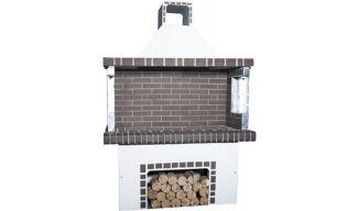 Ψησταριές - BBQ Κήπου - Λευκή & Γκρι Πυρότουβλο - 0113