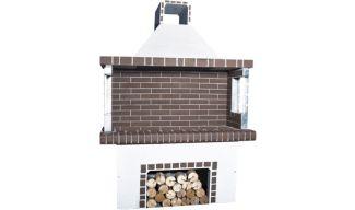 Ψησταριές - BBQ Κήπου - Λευκή & Καφέ Πυρότουβλο - 0102