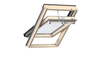 Centre Pivot Roof Window- VELUX Premium Auto- Pine Finish