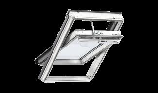 Ενεργειακά Παράθυρα Στέγης Κεντρικού Άξονα- VELUX Premium Auto- Λευκά Βαμμένο Ξύλο