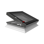 Flat Roof Window OKPOL with Flat Glass- Vented