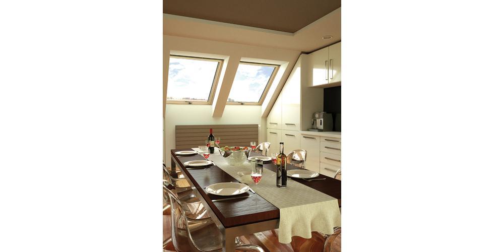 Centre Pivot Roof Window- OKPOL Standard- Interior View