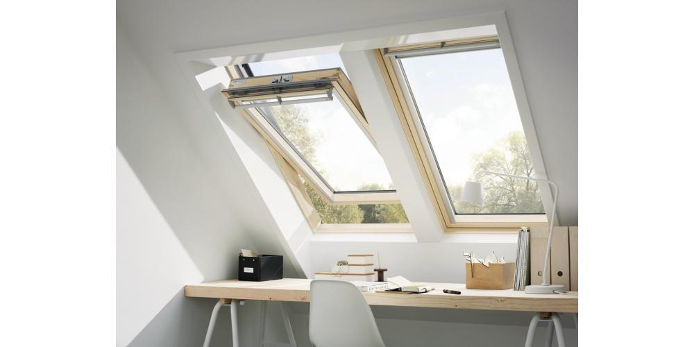 Centre Pivot Roof Window- VELUX Comfort- Pine Finish